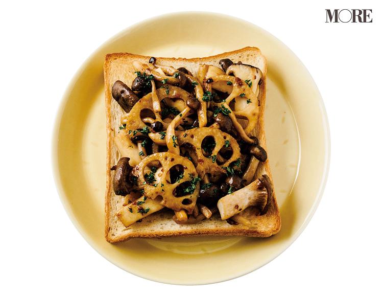 食パンをアレンジ! のり、きのこ、れんこんなどを使った簡単和風レシピ3選 【おかず食パン】_1