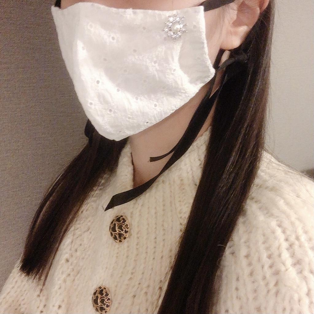 【手縫いで簡単!】上品レトロな手作りマスクをつくってみた_4