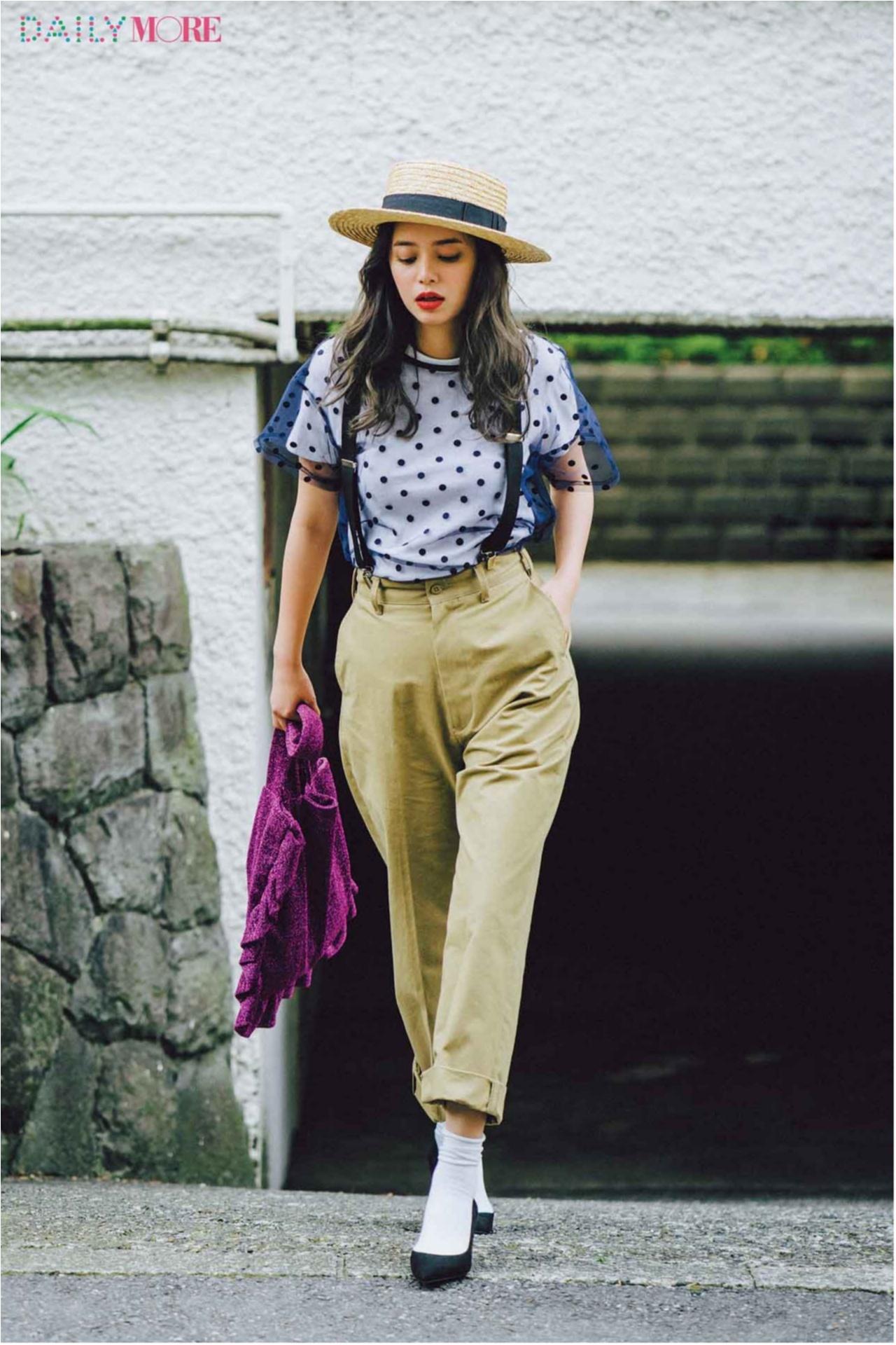 いつもの服が一気にフレンチムードに♪ お茶目な「カンカン帽」コーデまとめ♡_1_19
