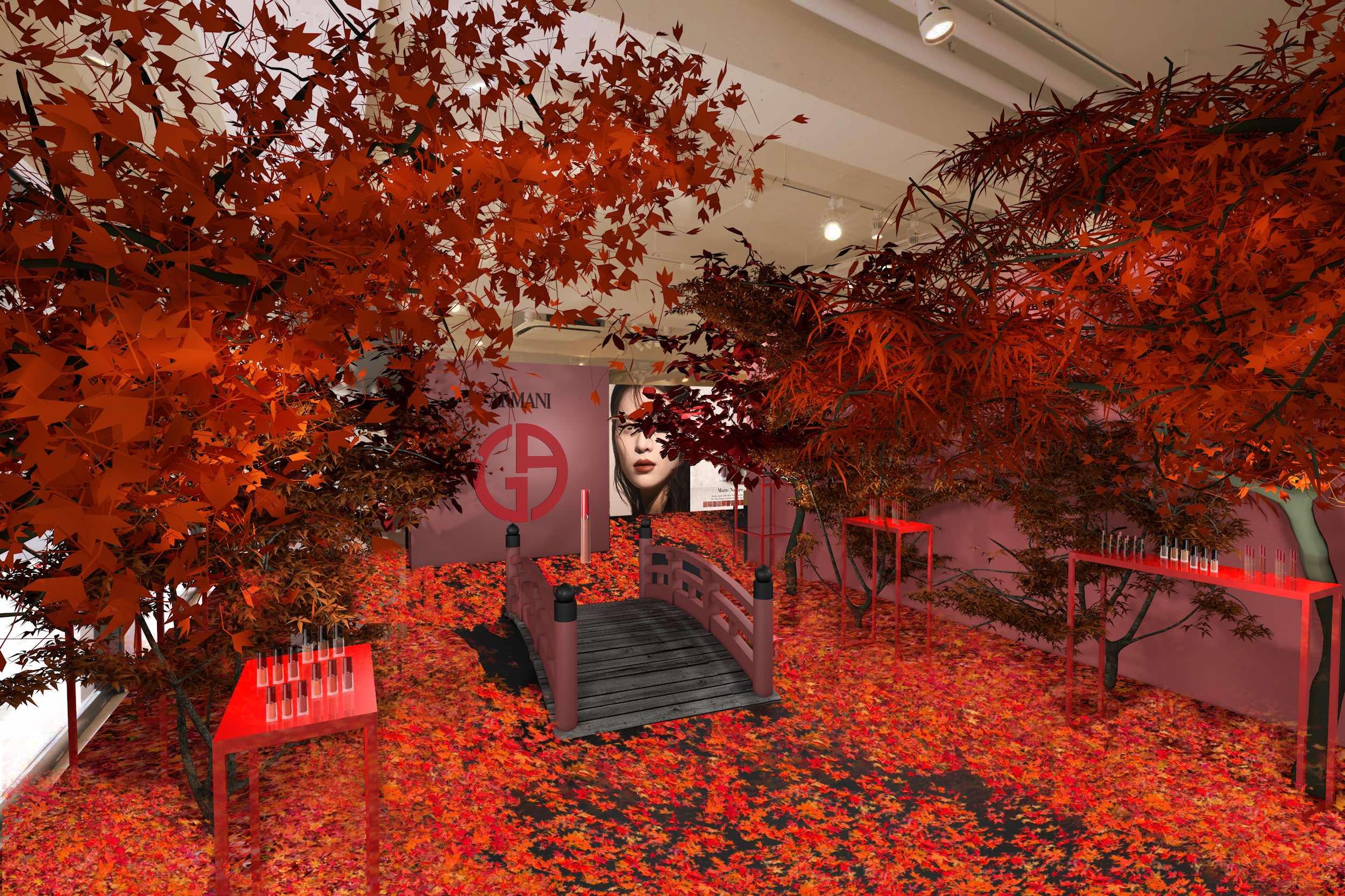 ポップアップストア「アルマーニビューティ KOYO」が神宮前に2日間限定オープン♪ 新感覚の紅葉と秋メイクを体験 _1