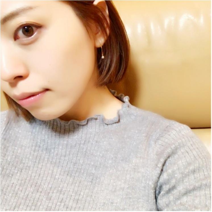 ユニクロ春の名品『シャイニーリブフリルネックセーター』を着てみた!まとめ♡_1_4