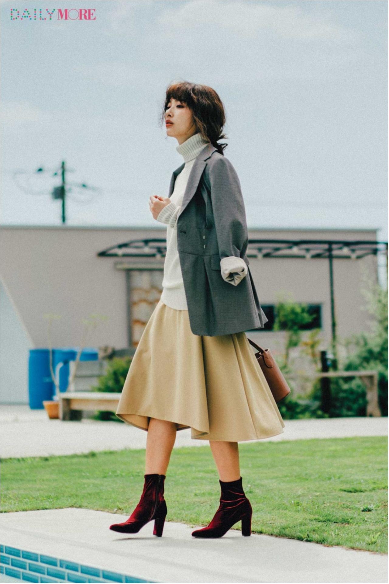 秋コーデを軽やか&華やかに♪ 「フレアスカート」の着こなしまとめ♡_1_1