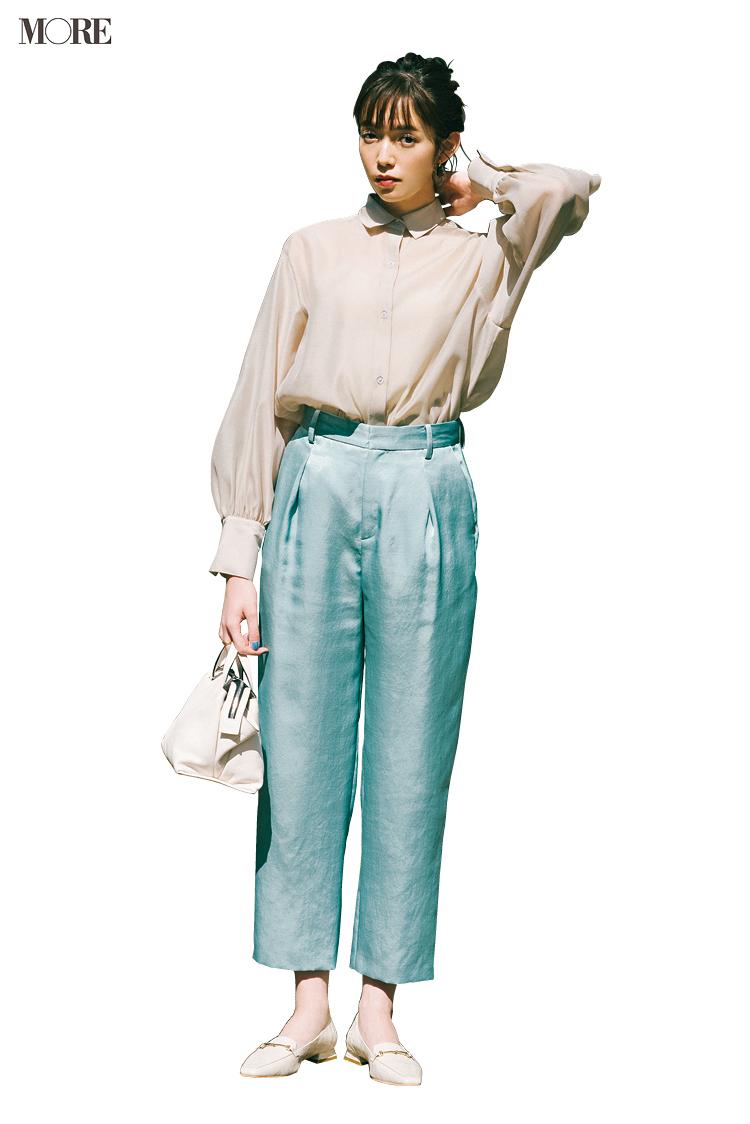 甘いシャツを上手に着るコツ、実はボトムと靴の組み合わせが重要! クロップトパンツには何を合わせればいい?_2
