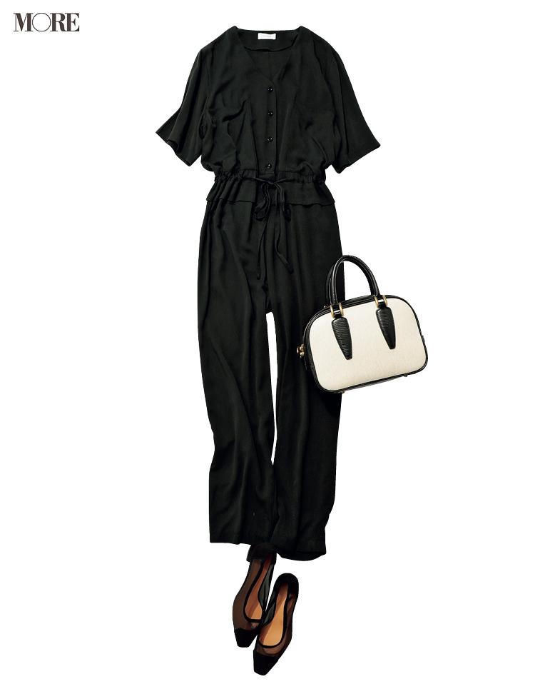 通勤服の新顔候補・オールインワンを楽&キレイに着こなしたいから♡かっちり見せる靴とバッグとの合わせ方_4