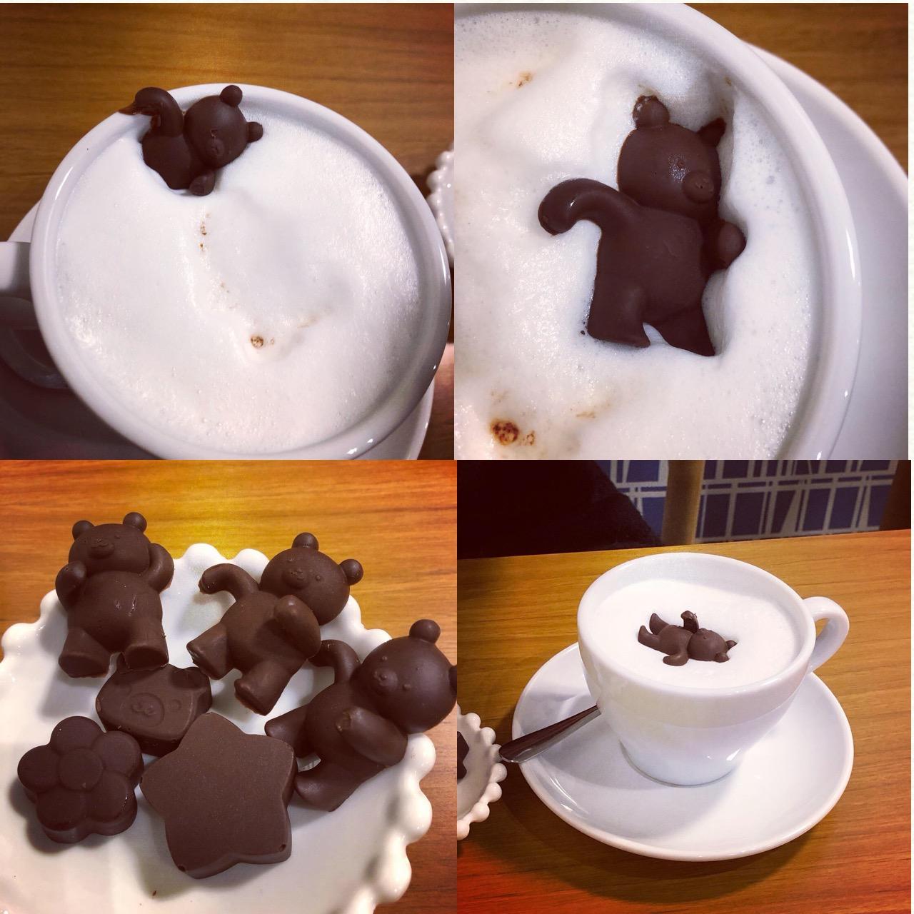<福岡*博多>くまさんを沈める?!念願の冬季限定ドリンクを求めて人気のカフェへ行ってきました!♡_6