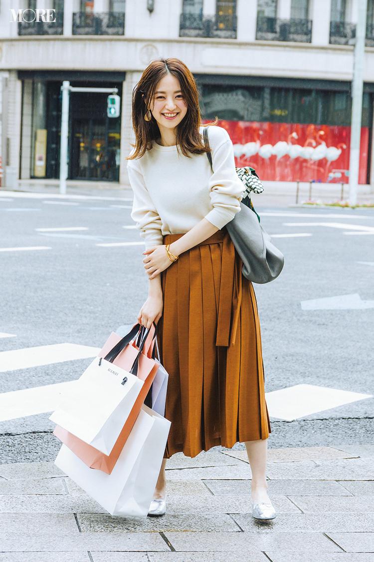 【今日のコーデ】<逢沢りな>友達と買い物三昧☆プリーツスカートをロンTでカジュアルMIXして_1