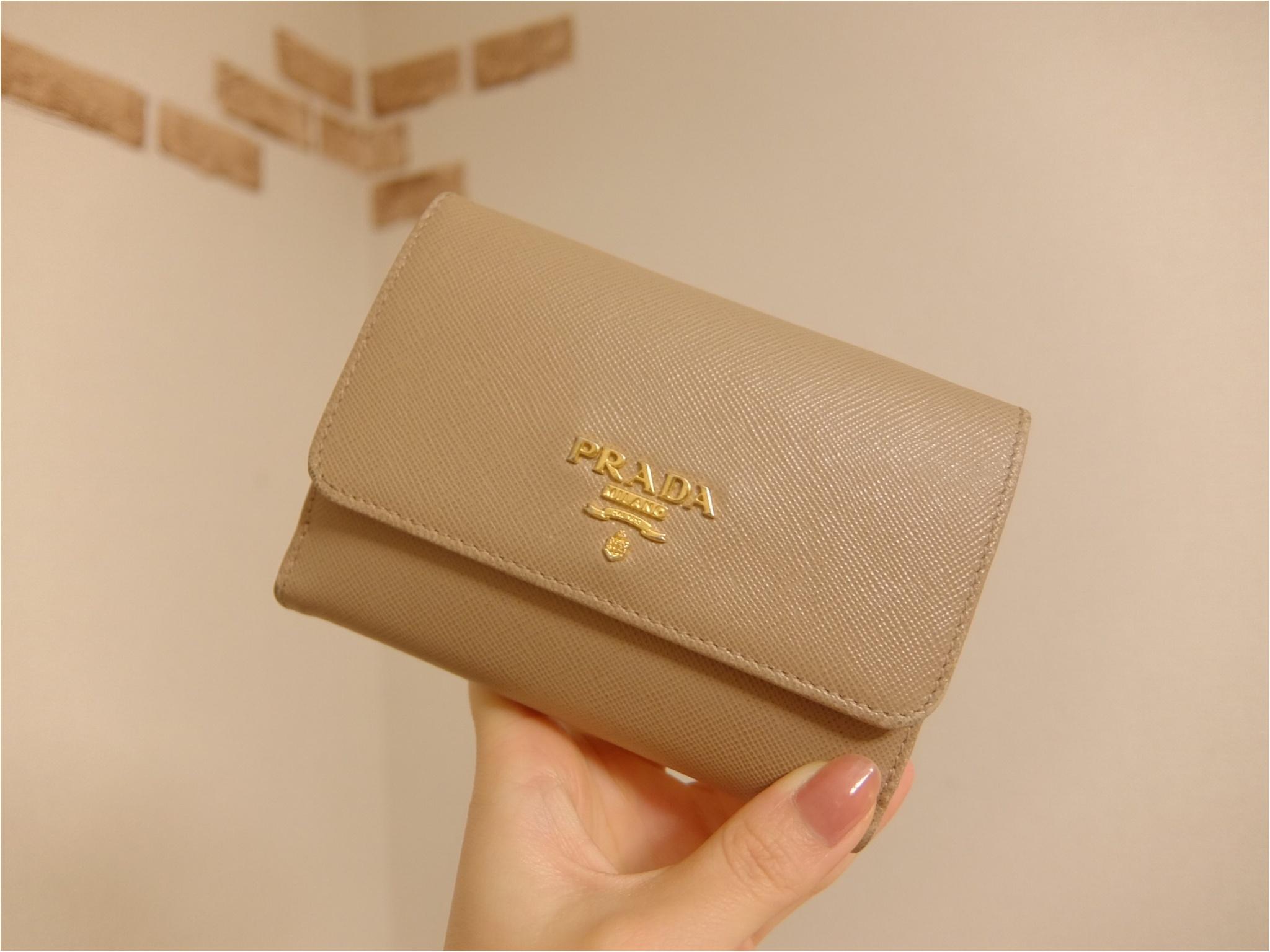 愛用財布は【PRADA】♡二つ折り派さん必見の≪カード収納術≫も紹介!_1