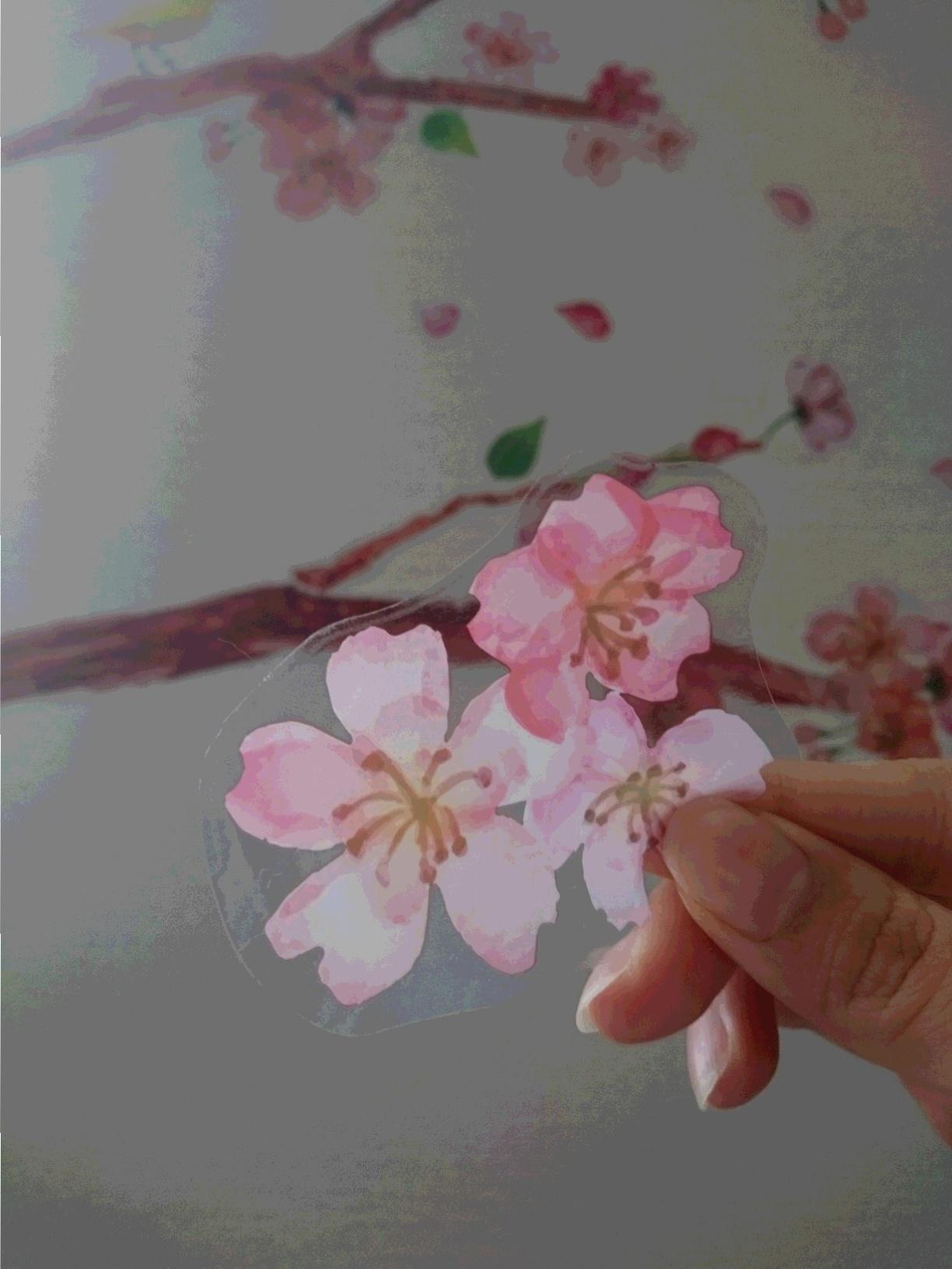 春・新生活! お部屋の模様替えを100円均一のウォールステッカーで☆_2
