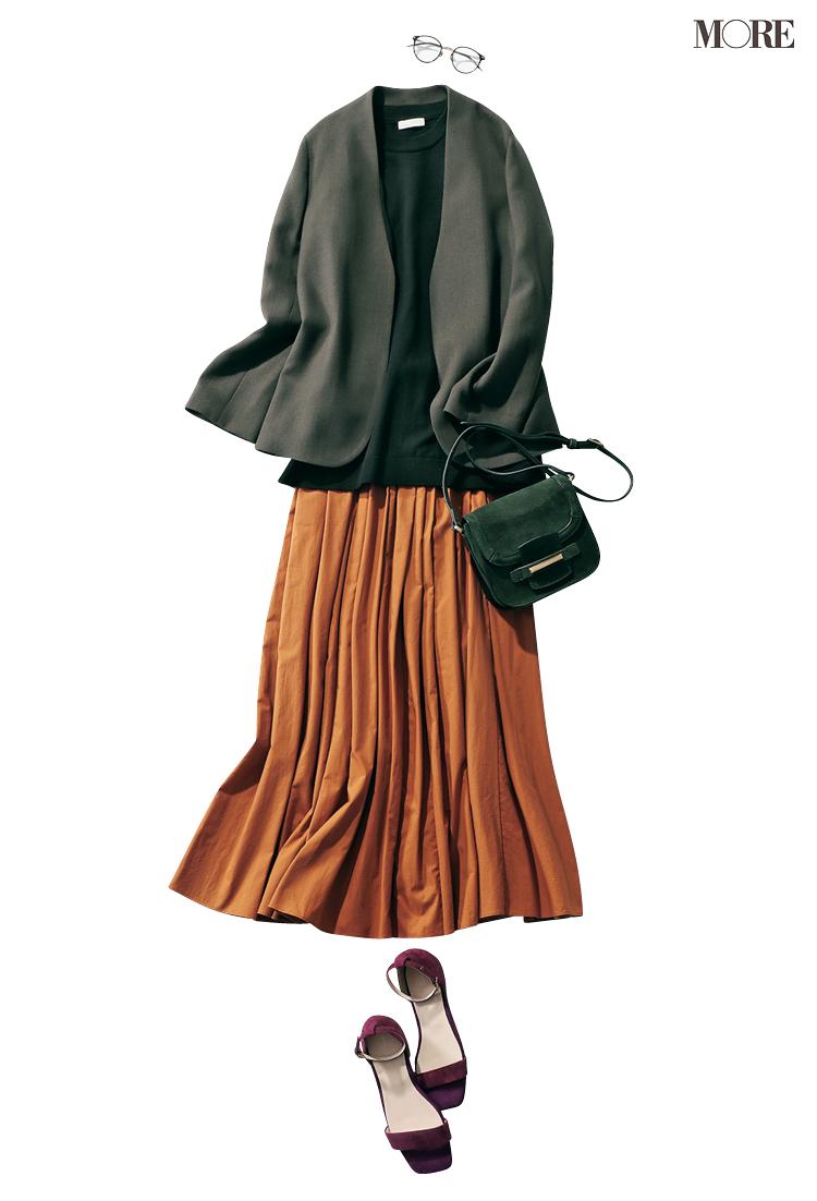 昨日の彼いい人だったな…♡ パンツ派巴瑞季・スカート派りな「秋ボトムに何合わせてく?」着回し19日目_3