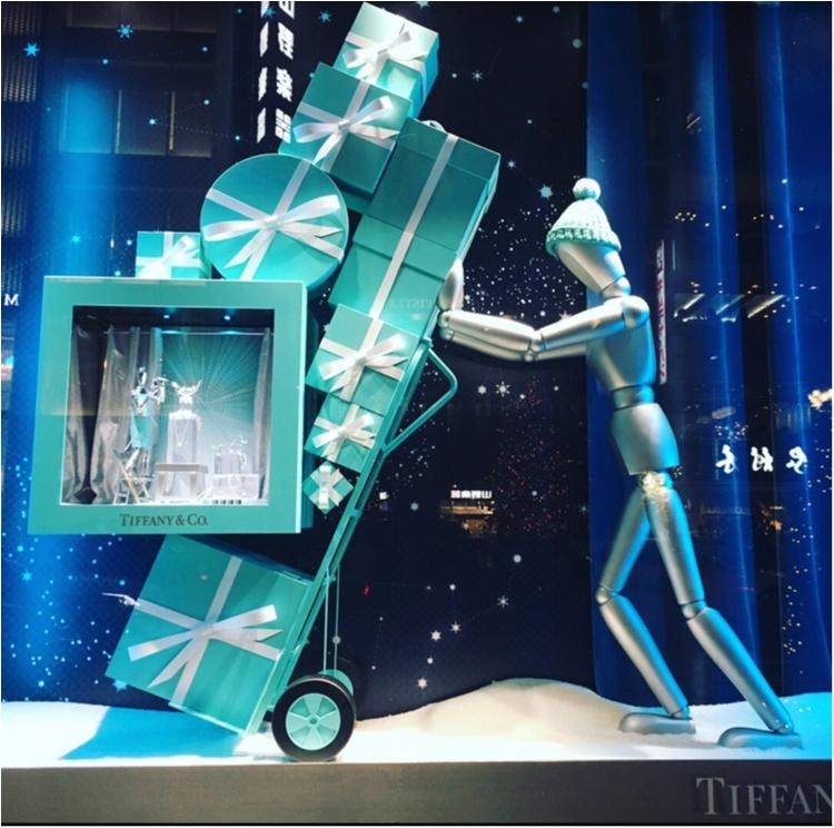 【銀ぶら】ティファニーブルーに惚れぼれ♡銀座のショーウィンドウでクリスマス気分を満喫♡♡_3