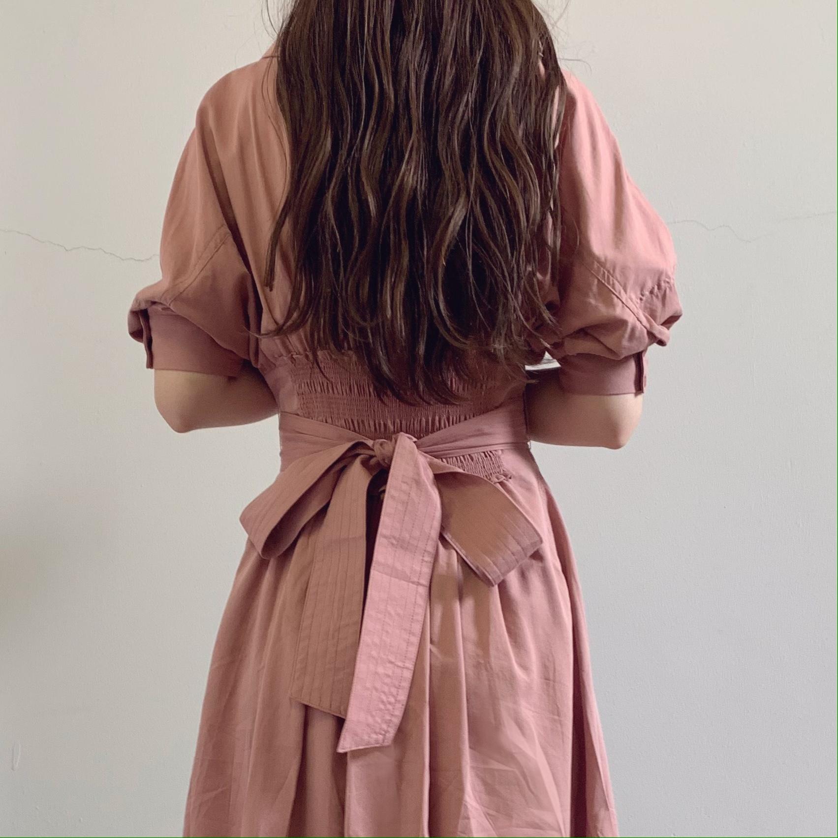 大人可愛い【SNIDEL】ピンクのロングシャツワンピース♡通勤にもデートにもおすすめ♡_2