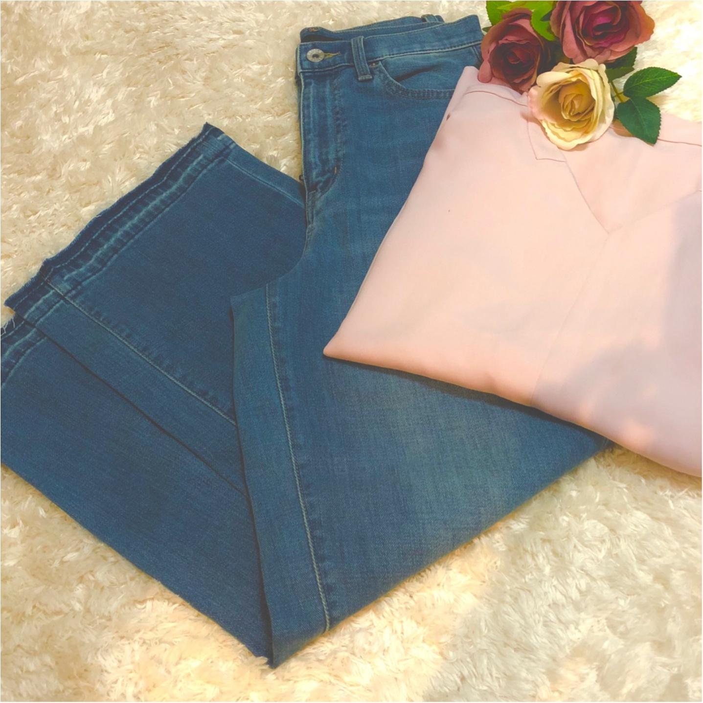 【UNIQLO】切りっぱなしワイドジーンズがSALE価格で1290円!これは、買うしかない。_1