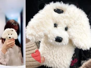 【#韓国ネットショッピング】わんわんスマホケースに一目惚れ♡わんちゃん好きにオススメ!ふかふかで可愛い( ´ ▽ ` )