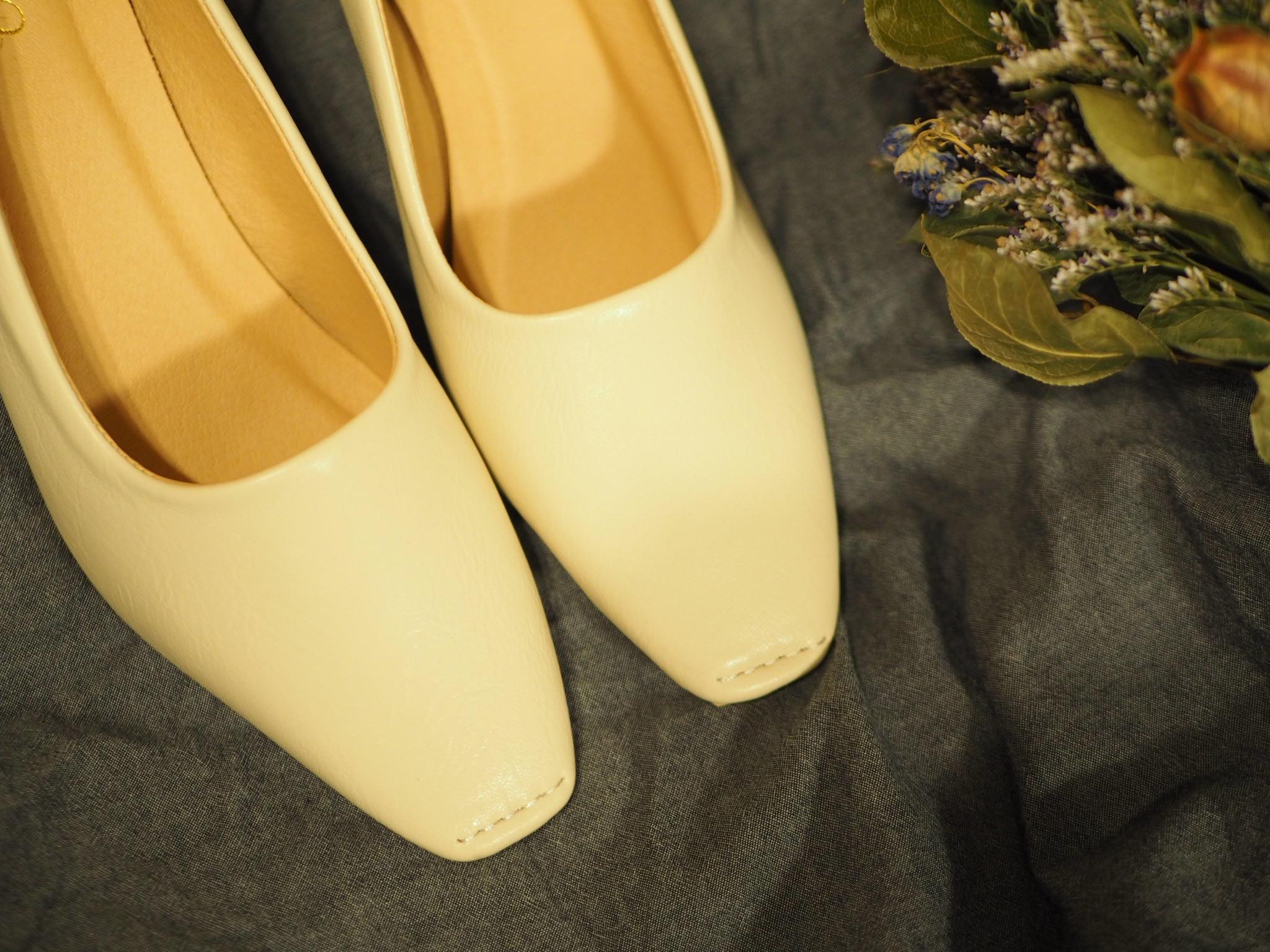 【プチプラ春靴】ホワイトカラーの《スクエアトゥシューズ》❃❃❃_4