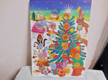 【カルディ】アドベントカレンダー。ここ最近のものは自分でカレンダーにシールを貼るみたい。