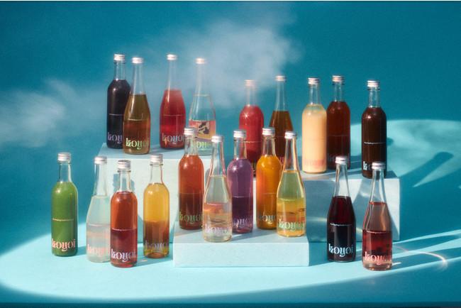 おしゃれすぎる低アルコールクラフトカクテル『koyoi』が全種類並んだ様子