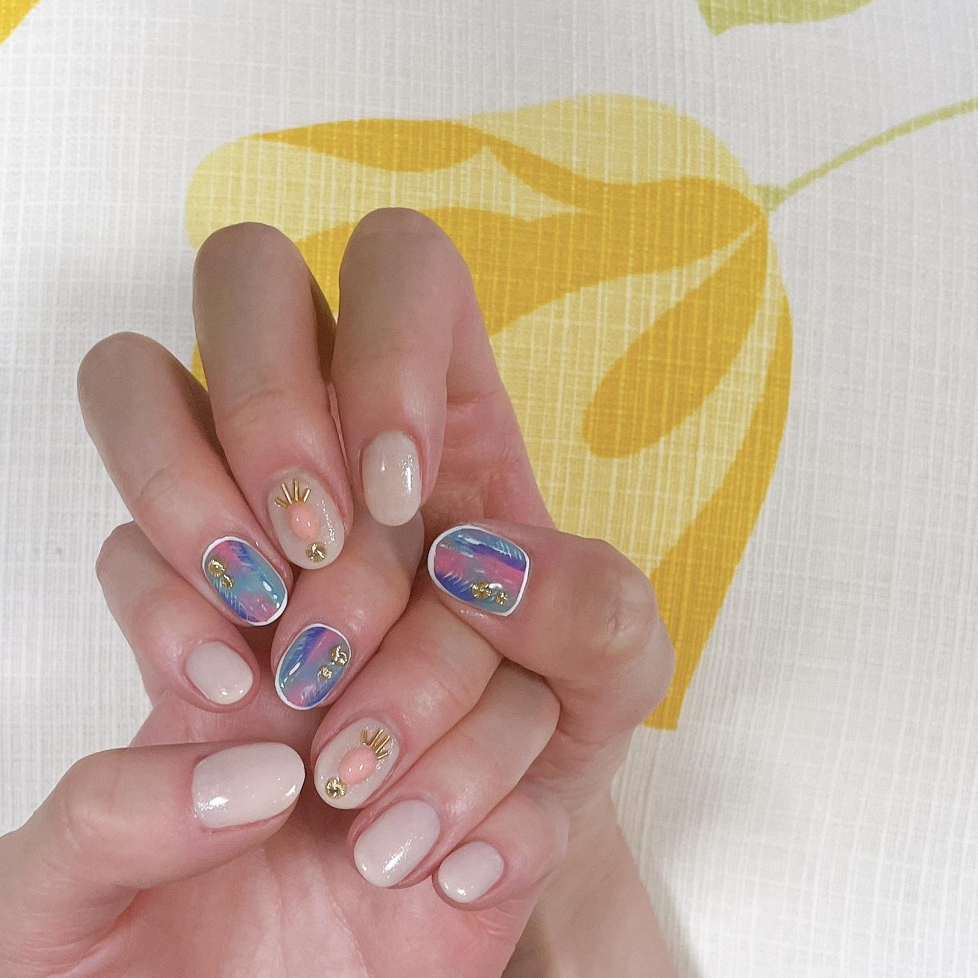 ⋆⸜ nail ⸝⋆ ①バカンスネイル_1