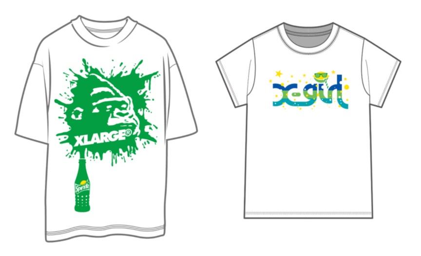 あの「スプライト」が『X-girl』&『XLARGE』とコラボ! 限定コラボTシャツが当たるかも!?_2