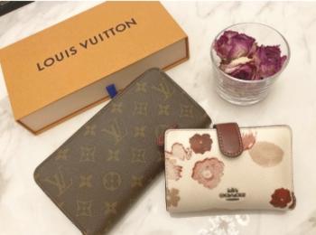 【20代女子の愛用財布】LOUIS  VUITTONの長財布×COACHのミニ財布を使い分け♡