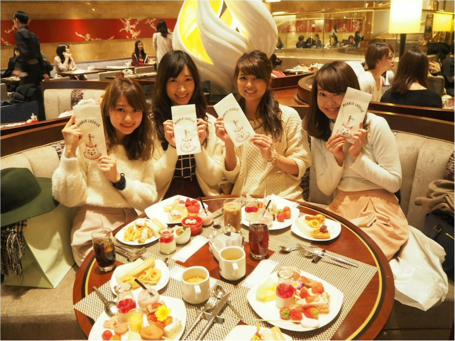 予約が取れない【ヒルトン東京・マーブルラウンジ】の《ストロベリーデザートブッフェ》はやっぱり最高だった♡_2
