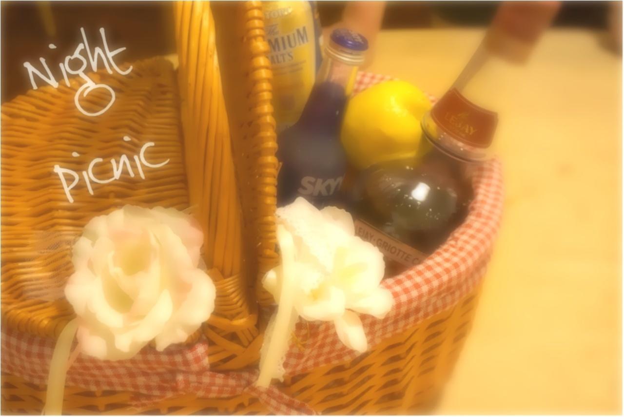 レンタルスペース【one kitchen】で夜ピクニック⁉️ルジェフルーツジャーでお洒落カクテルparty( ´ ▽ ` )ノ_2