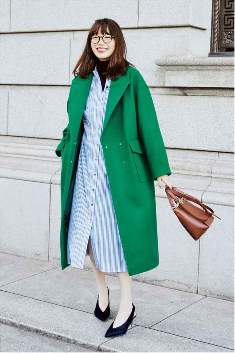 飯豊まりえが着るアナトリエのきれい色コート