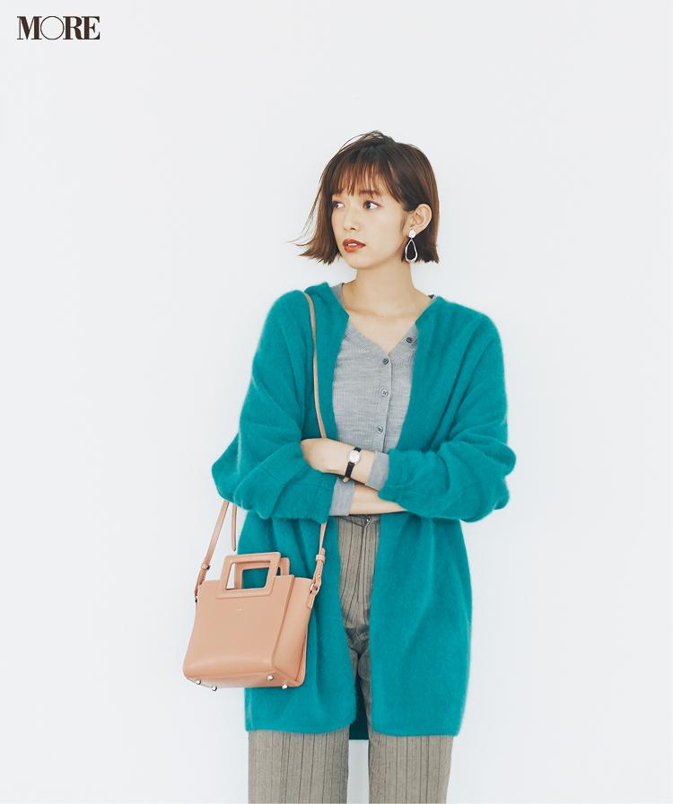 『ユニクロ ユー』も採用♡ 20代後半女子がもこもこカーディガンを大人っぽく着るコツ_4