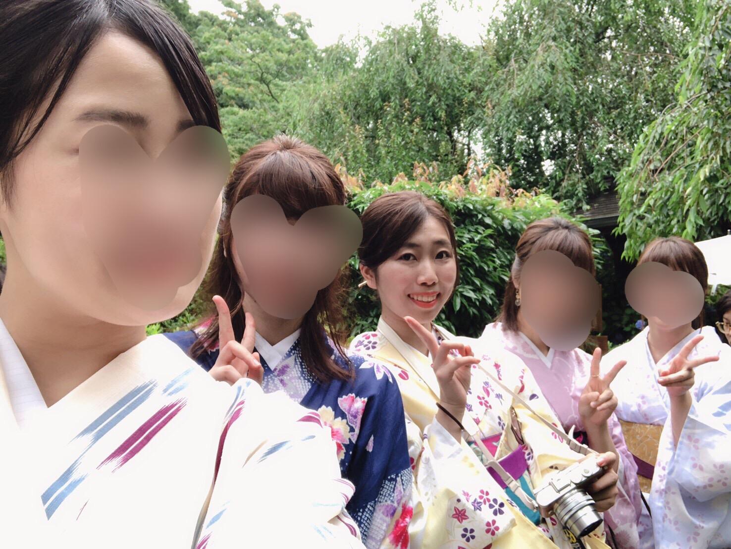 夏着物で鎌倉女子旅♡  紫陽花がとっても綺麗でした♡_10