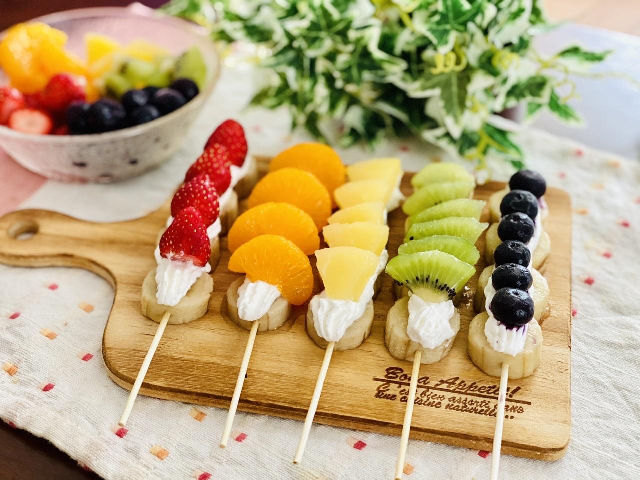 【おうちカフェ】超簡単なのに可愛さ満点!ひんやりスイーツ《冷凍フルーツ棒》が絶品♡Part2_1