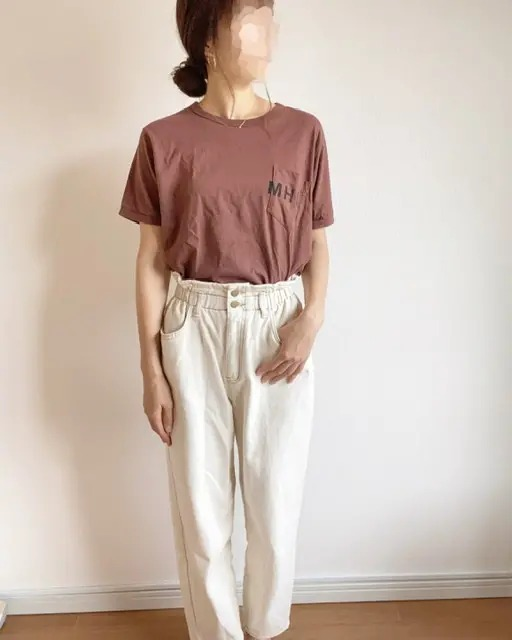 『ユニクロ』白シャツ&ワイドパンツで、きれいめオフィスコーデ♪【今週のMOREインフルエンサーズファッション人気ランキング】_1