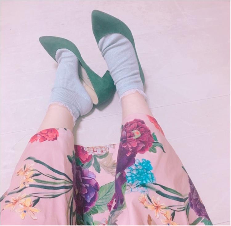 《いま、ザラ(ZARA)女が増えているっ♡!》今年初の春物は売り切れ続出のお花咲きめくミモレスカート♡!_6