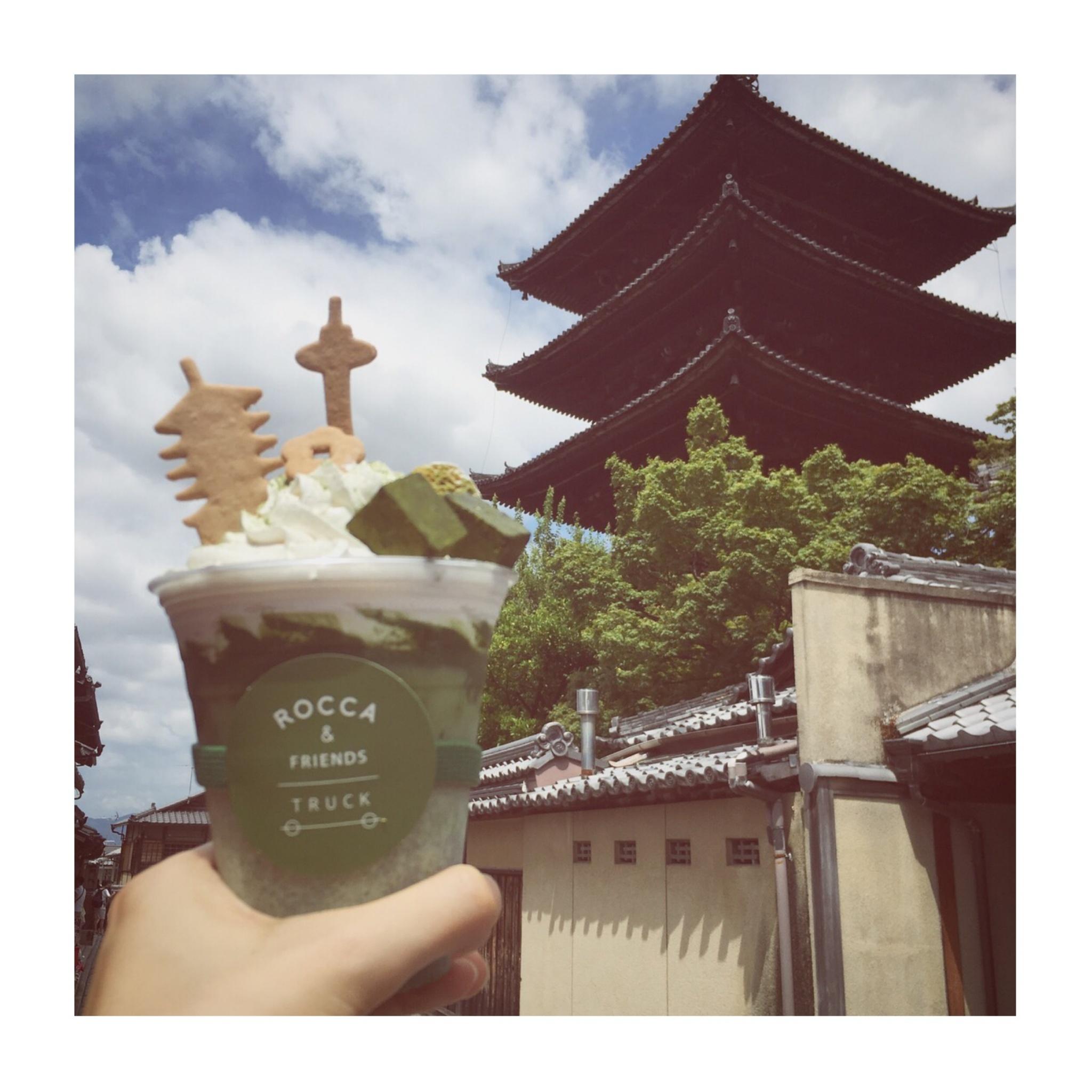 #5【#cafestagram】❤️:《京都》に行ったら絶対飲みたい!ROCCA&FRIENDS TRUCKの抹茶ラテがかわいすぎる◡̈_5