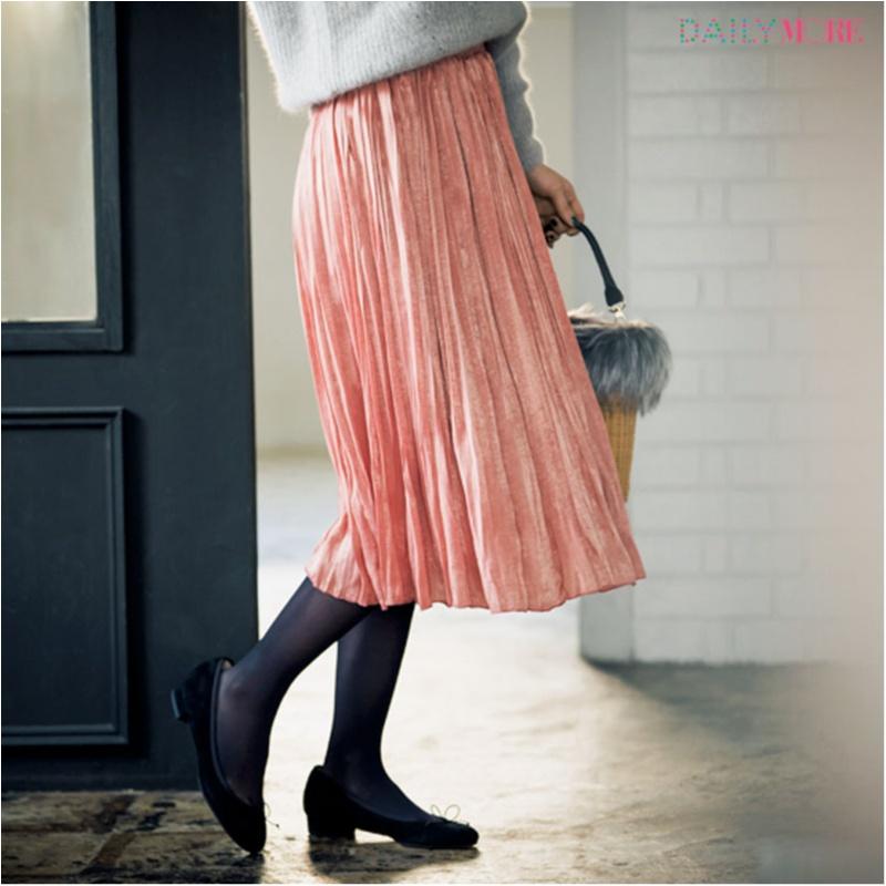 【公式通販GET MORE!】女っぽくて上品で、春まで着回せるんです♪ 『Flower Days』のプリーツスカート最強説!_2_3