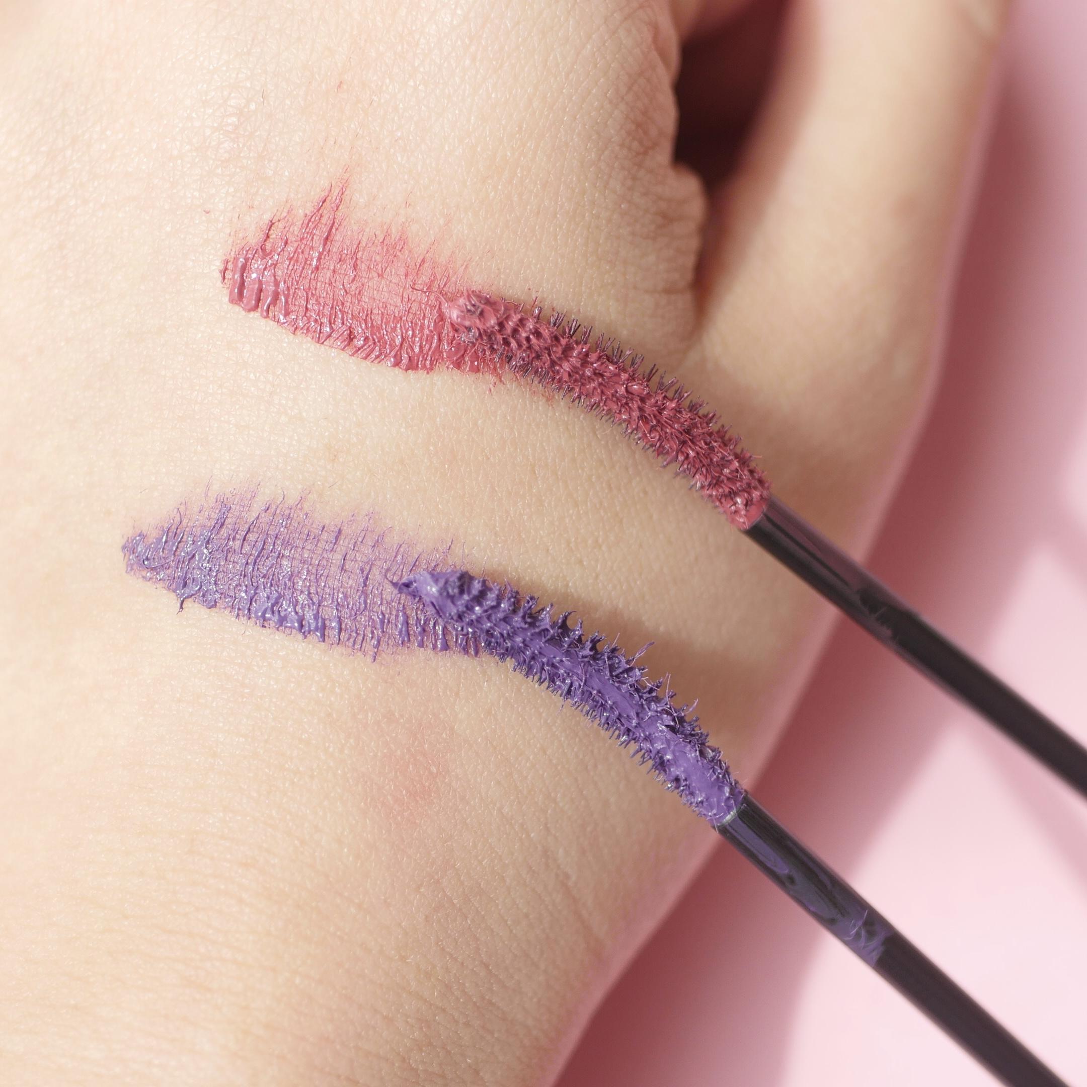WHOMEE フーミー ロング&カールマスカラ(cherry pink)ミッキー&ミニー/(amethyst purple)ドナルド&デイジー