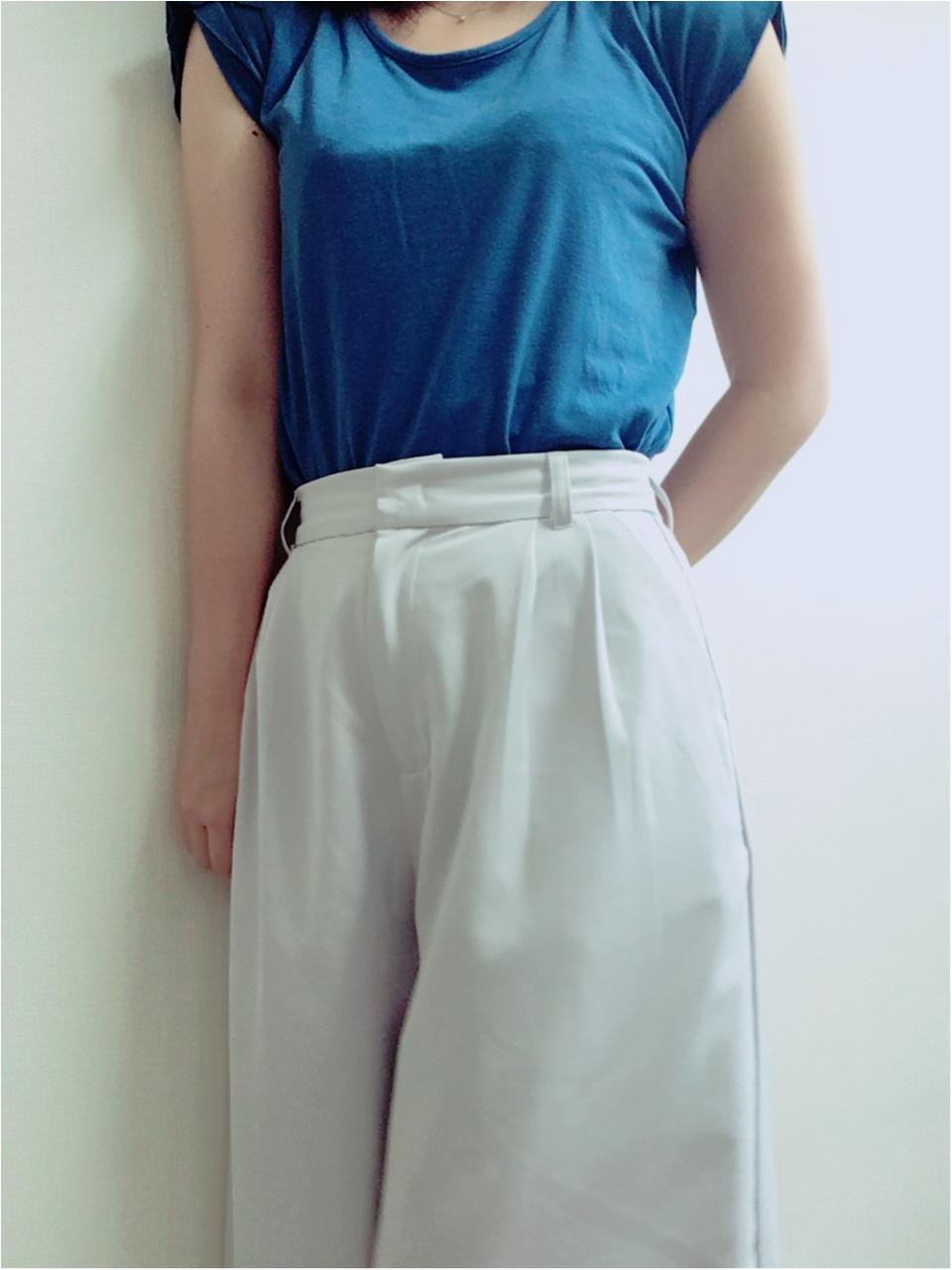 今日のオフィスコーデ★【Fashion】夏はさわやかブルーのトップスで★_5