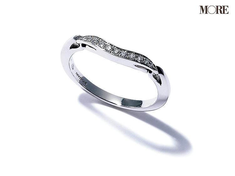 ブルガリのハーフエタニティリング 婚約指輪