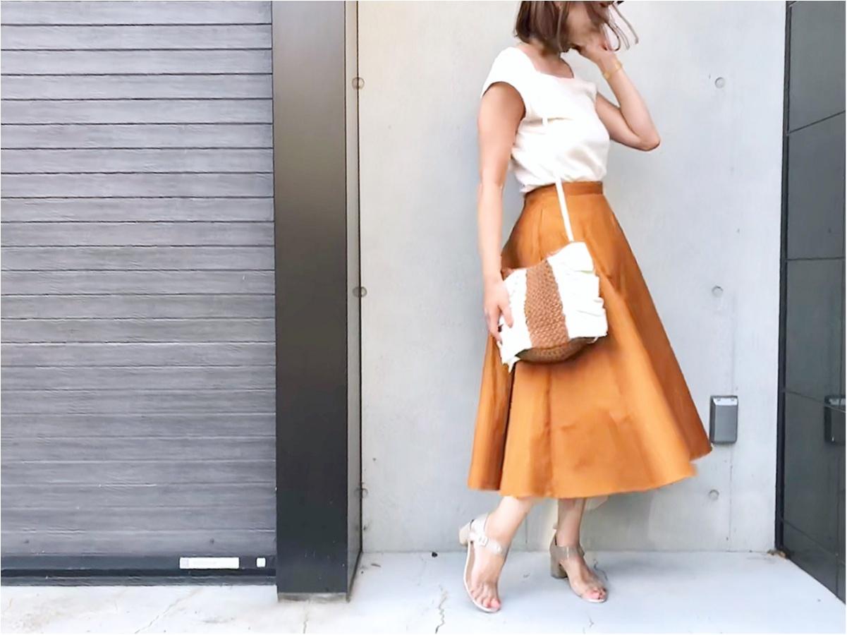 【UNIQLO(ユニクロ)】今日から¥1000オフなんて買うしかない!《サーキュラースカート》が美シルエットで素敵すぎる❤️_2
