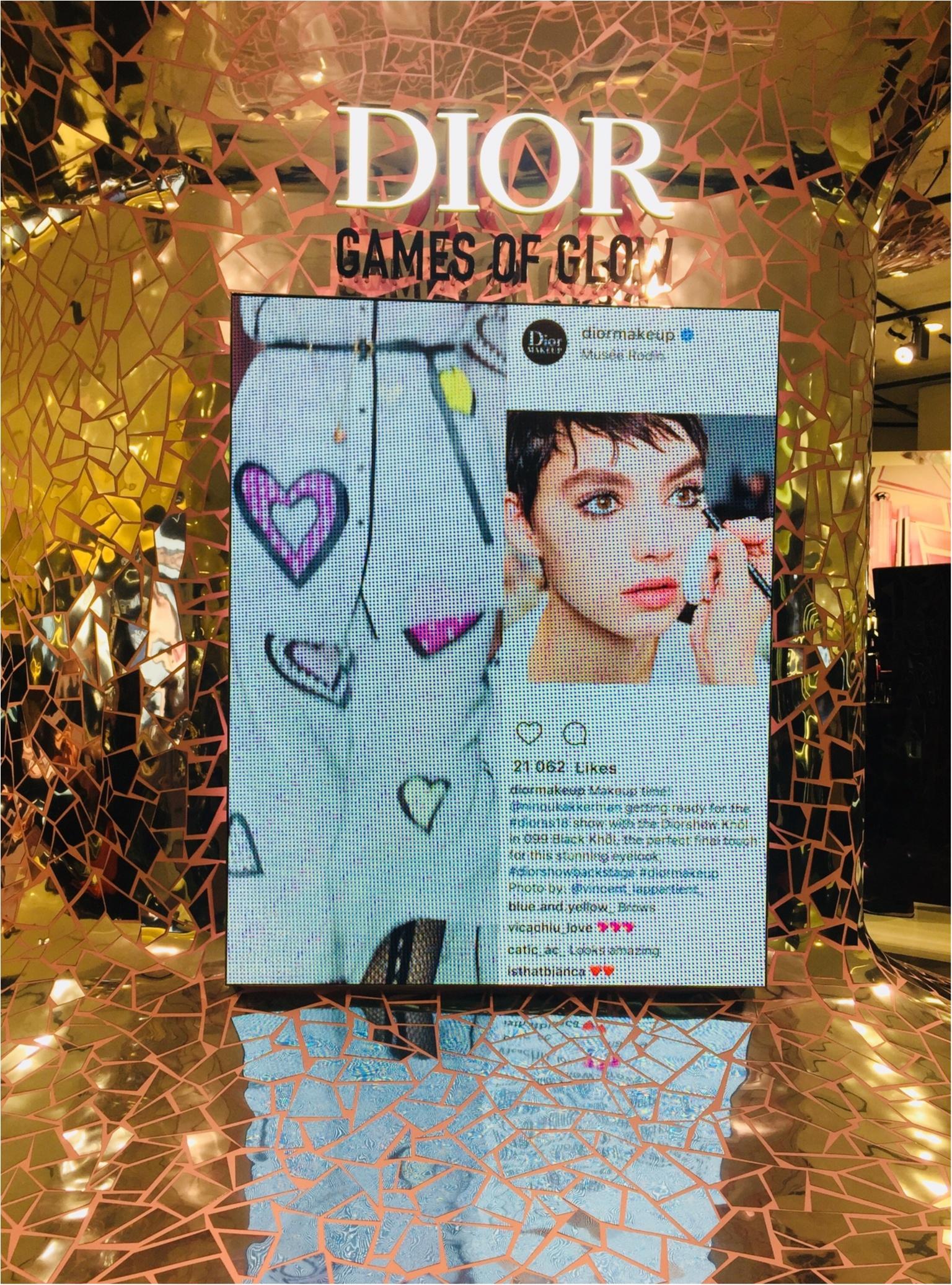 《コスメ》Diorイベント『GAMES OF GLOW』で2018年の勝負リップ!キラキラなホロピンクをGETしてきました^^_1