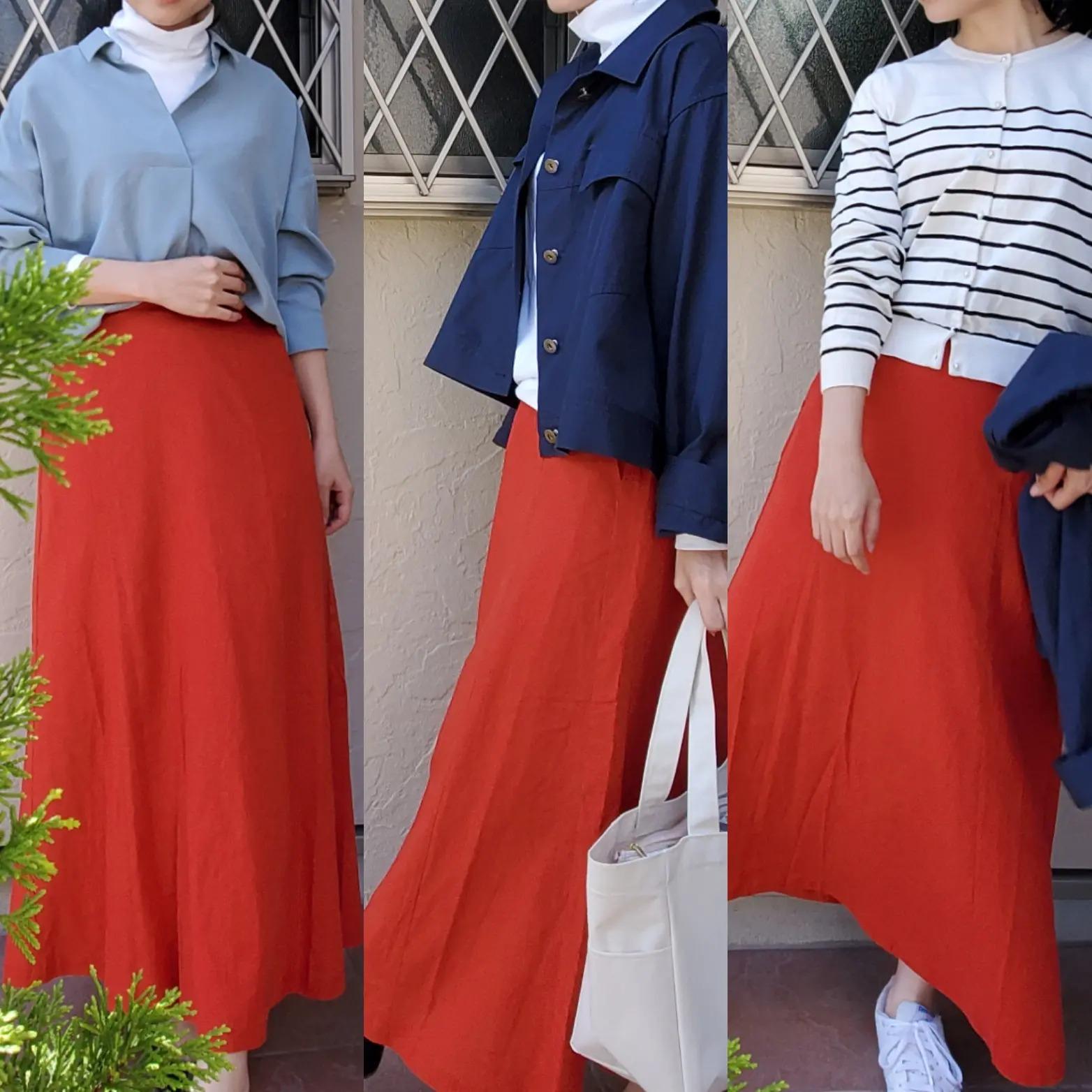 『ユニクロユー』、『GU』のプチプラ春コーデ♪ 赤スカートが気になる!【今週のモアハピ部ファッション人気ランキング】_1