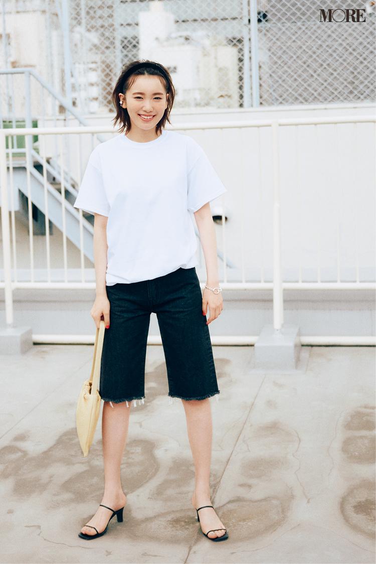 オーバーサイズで着ると可愛いギルダンの白いTシャツ