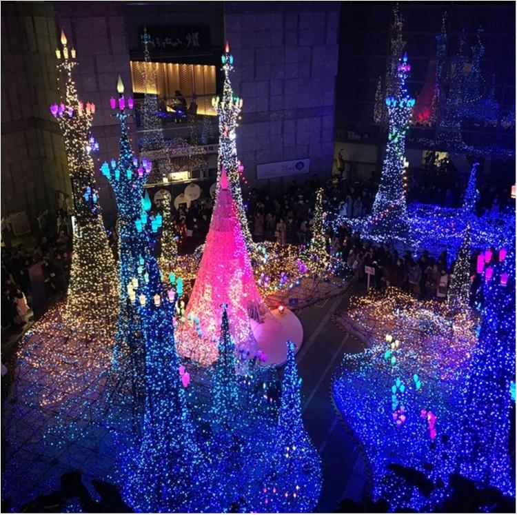 都内で話題のイルミネーションはココ!汐留の冬の風物詩が今年はディズニー映画「美女と野獣」とコラボ♡@東京・カレッタ汐留_2_1