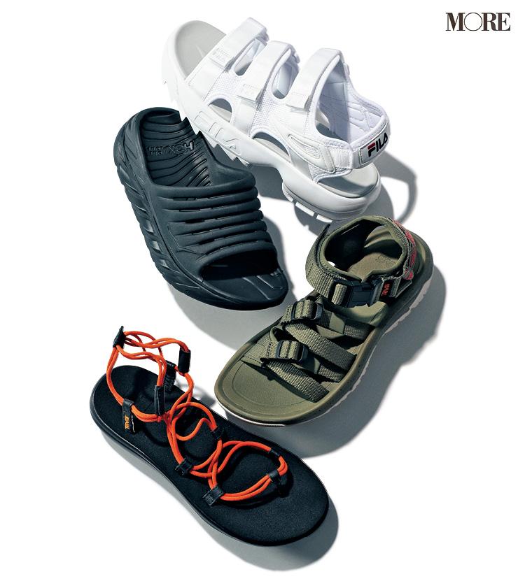 ぺたんこ靴、夏の陣!「ヘルシー見えスポサン」と「きちんと見えローファー」どちらがお好き?_1