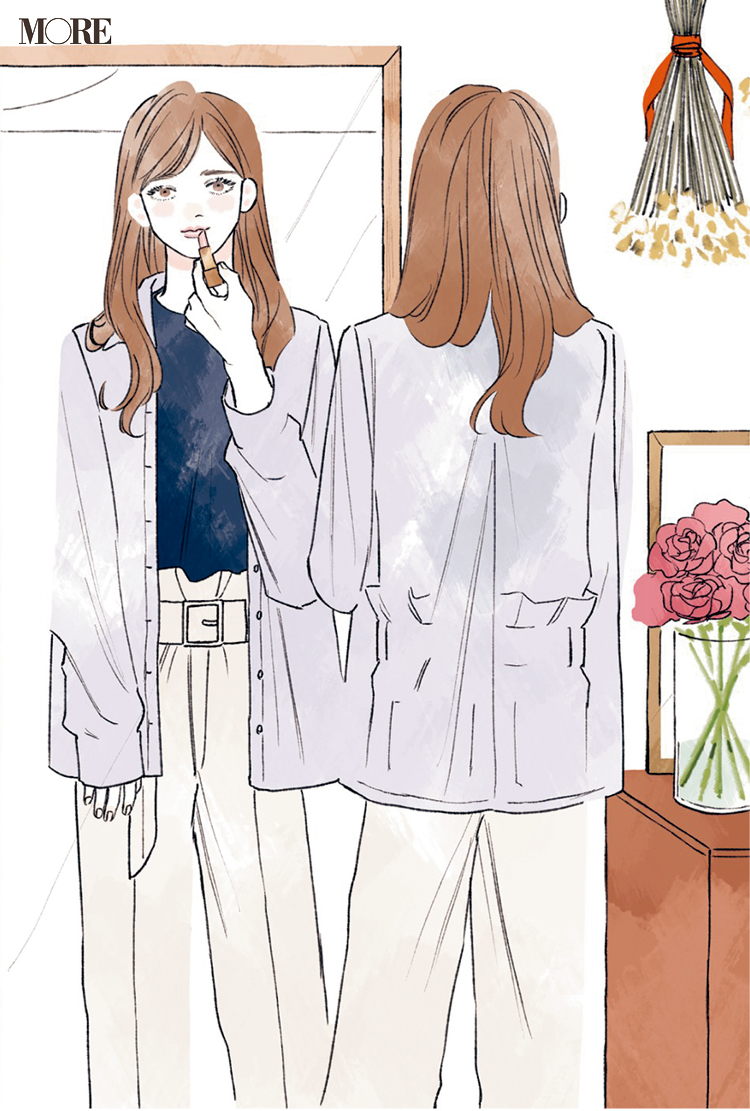 リモートワークでも上がるワンピを着て♡ 同僚3人の恋物語『涼しげ寒色服着回し』5日目_3