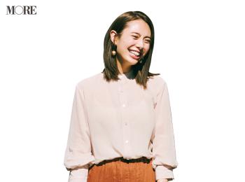 【今日のコーデ】<土屋巴瑞季>透けるシャツにリネンスカートで上品シックな着こなしを春仕様に!