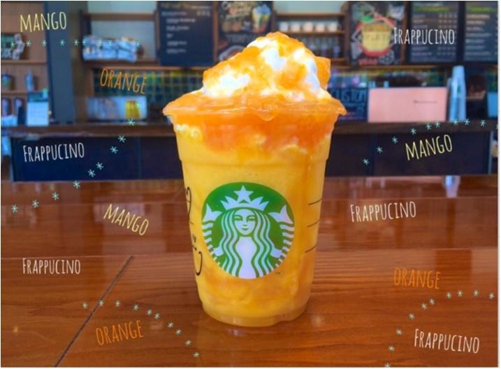 """【FOOD】今日から販売!夏にぴったり!""""マンゴーオレンジフラペチーノ"""" を○○UPでさらに美味しく♡ _2"""