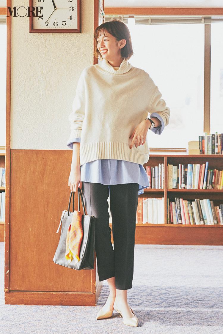 【今日のコーデ】何着るか迷ったら「水色シャツ」をレイヤードして定番コーデをリフレッシュ☆ 〈佐藤栞里〉_1