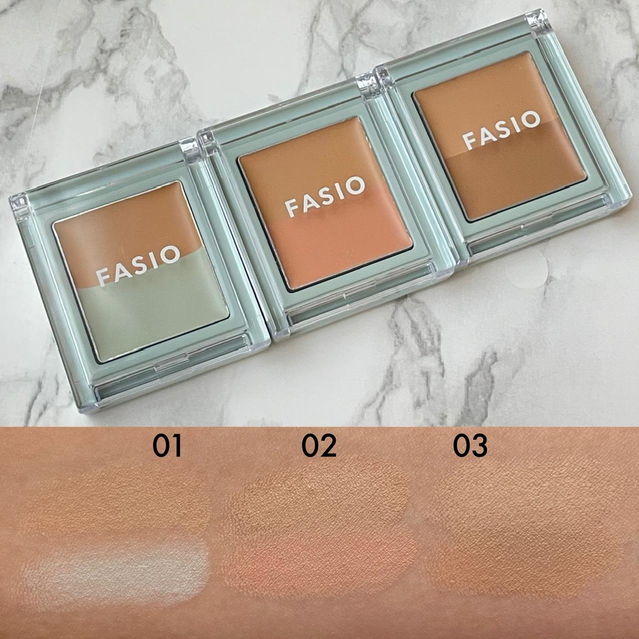 FASIO「ファシオ エアリーステイ コンシーラー」3種