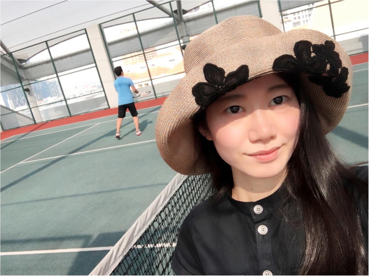久しぶりにテニスコートに行ってみた(*⁰▿⁰*)_1