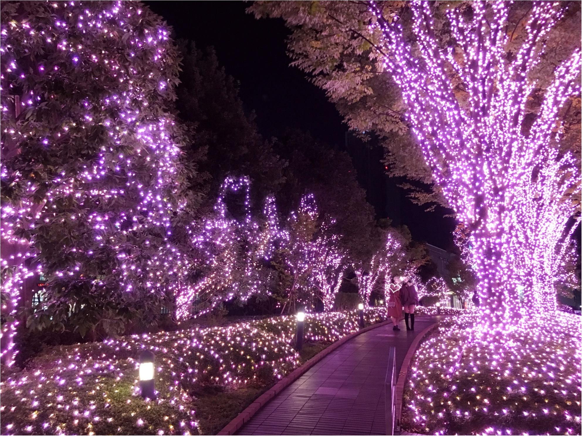 新宿の冬をベビーピンク色に染め上げる♡『新宿テラスシティ』のイルミネーションが女子力高め!体験型の『スマイルタワー』って?♡_7