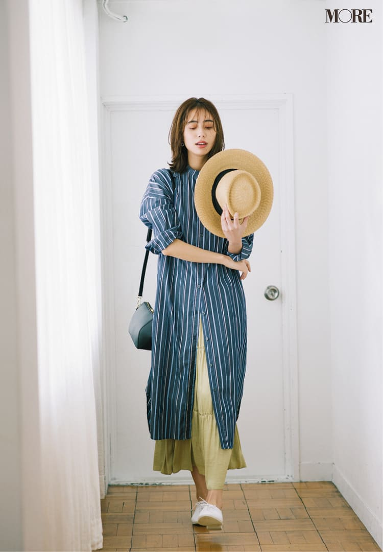 シャツワンピースの着こなし術【2020春】- 今年イチオシの色・形は? とびきり今っぽくておしゃれな最新ファッションまとめ_16